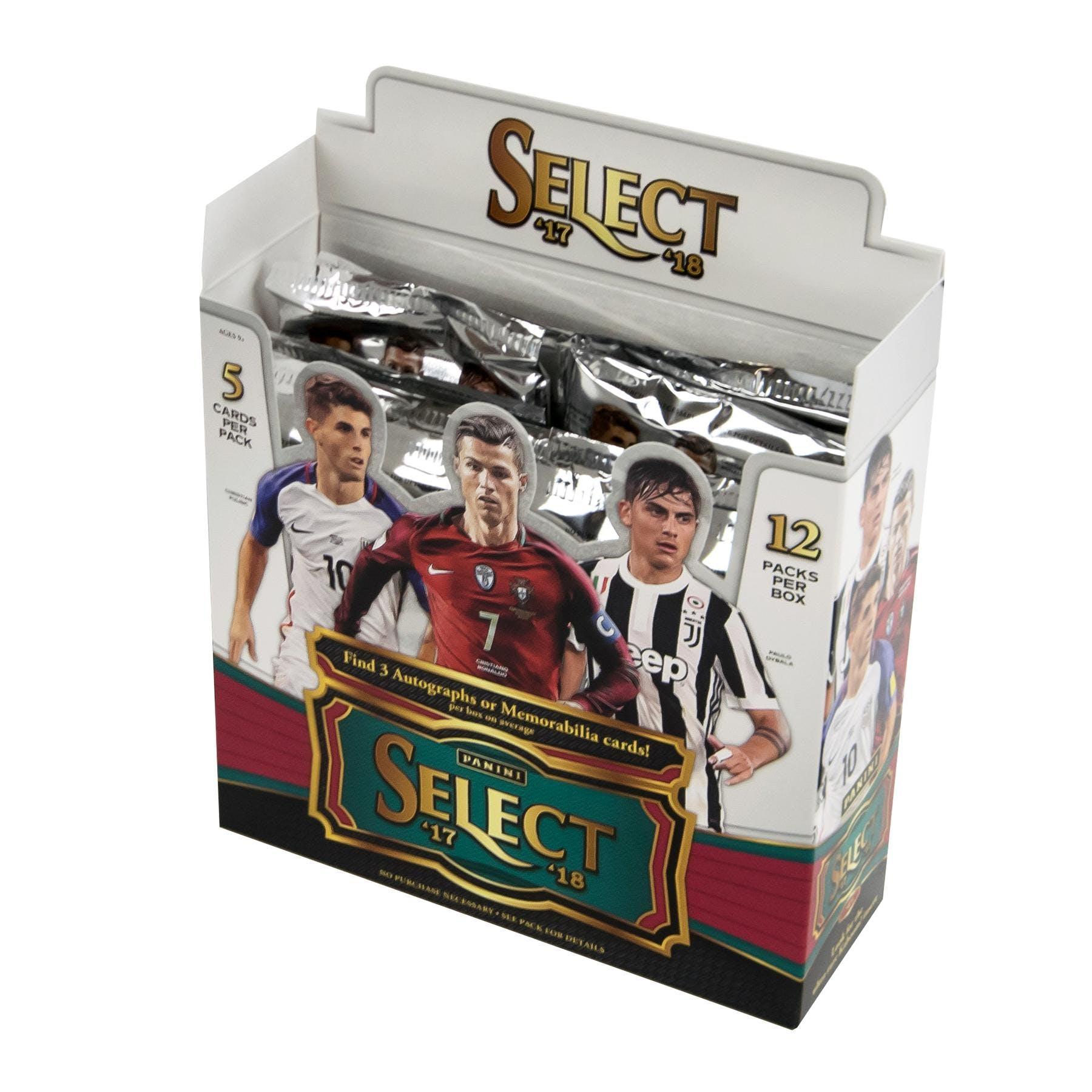 2017//18 PANINI SELECT SOCCER 20 CT RETAIL BOX LOT OF 5 BOXES